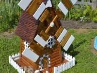 Декоративная мельница — красивые и оригинальные мельницы для сада и дачного участка (110 фото)