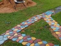 Бетонные дорожки: 130 фото применения в саду и на участке бетонных тропинок и дорожек