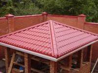 Крыша беседки: материалы, выбор дизайна и особенности постройки кровли для беседки (110 фото)