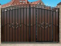 Распашные ворота: обзор качественных материалов, современные конструкции и лучшие распашные системы (130 фото)