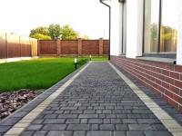 Укладка тротуарной плитки — мощение во дворе частного дома. 125 фото и видео описание применения плитки