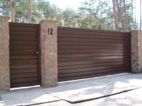 Ворота из профнастила: как построить своими руками красивые и качественные ворота (155 фото + видео)