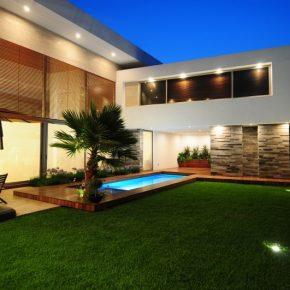 Дизайн двора частного дома: оригинальные варианты дизайна и красивые идеи оформления частного двора (180 фото)